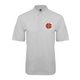 White Easycare Pique Polo-BC Logo