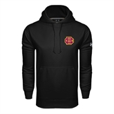 Under Armour Black Performance Sweats Team Hood-BC Logo