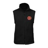 Fleece Full Zip Black Vest-BC Logo