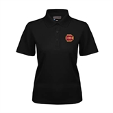 Ladies Black Dry Mesh Polo-BC Logo