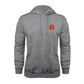 Grey Fleece Hood-BC Logo