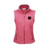 Ladies Fleece Full Zip Raspberry Vest-BC Logo