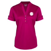 Ladies Ogio Deep Berry Fashion Henley-Primary Mark