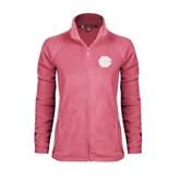 Ladies Fleece Full Zip Raspberry Jacket-BC Logo