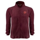 Fleece Full Zip Maroon Jacket-BC Logo