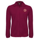 Fleece Full Zip Maroon Jacket-Primary Mark