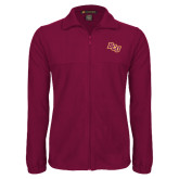 Fleece Full Zip Maroon Jacket-BCU