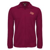Fleece Full Zip Maroon Jacket-BCU