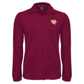 Fleece Full Zip Maroon Jacket-Wildcat Head