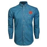 Denim Shirt Long Sleeve-BC Logo