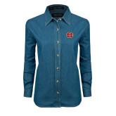 Ladies Denim Long Sleeve Shirt-BC Logo