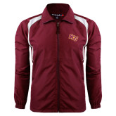 Colorblock Maroon/White Wind Jacket-BCU