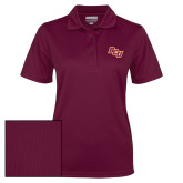 Ladies Maroon Dry Mesh Polo-BCU