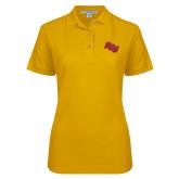 Ladies Easycare Gold Pique Polo-BCU