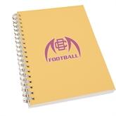 Clear 7 x 10 Spiral Journal Notebook-Football