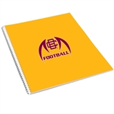 College Spiral Notebook w/Clear Coil-Football