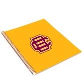 College Spiral Notebook w/Gold Coil-BC Logo