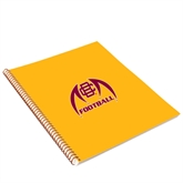 College Spiral Notebook w/Gold Coil-Football