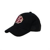Black Heavyweight Twill Pro Style Hat-BC Logo