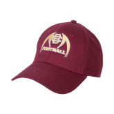 Maroon Heavyweight Twill Pro Style Hat-Football
