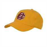 Gold Twill Unstructured Low Profile Hat-BC Logo