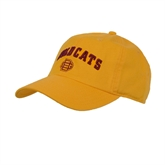 Gold Twill Unstructured Low Profile Hat-Wildcats w/BC Logo