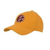 Gold Heavyweight Twill Pro Style Hat-BC Logo