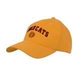 Gold Heavyweight Twill Pro Style Hat-Wildcats w/BC Logo