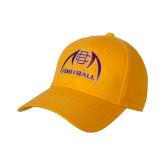 Gold Heavyweight Twill Pro Style Hat-Football