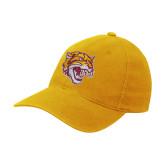 Gold Flexfit Mid Profile Hat-Wildcat Head