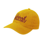 Gold OttoFlex Unstructured Low Profile Hat-Wildcats Script