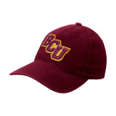 Maroon Flexfit Mid Profile Hat-BCU