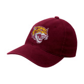 Maroon OttoFlex Unstructured Low Profile Hat-Wildcat Head