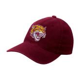 Maroon Flexfit Mid Profile Hat-Wildcat Head