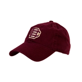 Maroon Twill Unstructured Low Profile Hat-BC Logo
