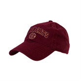 Maroon Twill Unstructured Low Profile Hat-Wildcats w/BC Logo