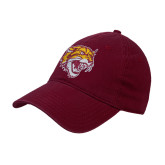 Maroon Twill Unstructured Low Profile Hat-Wildcat Head