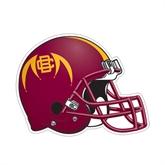 Football Helmet Magnet-Football Logo, 11 1/2 in W X 8 3/4 in H