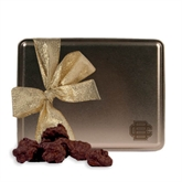 Decadent Chocolate Clusters Gold Large Tin-BC Logo Engraved