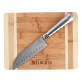 Oneida Cutting Board and Santoku Knife Set-Bethune Cookman Wildcats Stacked Engraved