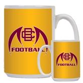 Full Color White Mug 15oz-Football