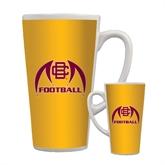 Full Color Latte Mug 17oz-Football
