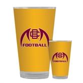 Full Color Glass 17oz-Football