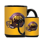 Full Color Black Mug 15oz-Football