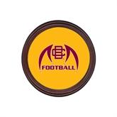 Round Coaster Frame w/Insert-Football