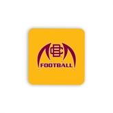 Hardboard Coaster w/Cork Backing-Football