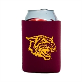 Collapsible Maroon Can Holder-Wildcat Head