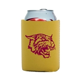 Collapsible Gold Can Holder-Wildcat Head