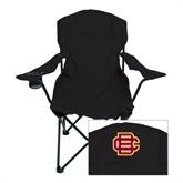 Deluxe Black Captains Chair-BC Logo