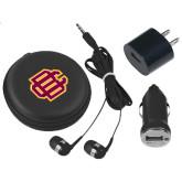 3 in 1 Black Audio Travel Kit-BC Logo